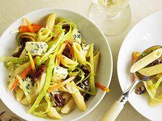 Penne mit Gemüse und Roquefort