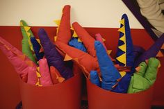 Oh, I totally want to do a dragon party for one of the kids' birthdays, and give their friends dragon tails to take home with them for dress-up...are my sewing skills up to the task?