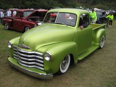 Green Metallic Chevy Truck. Gorgeous.