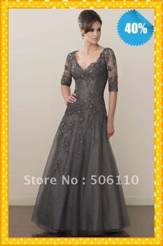 a73abd67823 Mother Of The Bride Dresses Gowns Picture - More Detailed Picture about  2012 Sexy V Neck Halter Sleeves Tulle Applique Floor Length Mother Of The  Bride ...