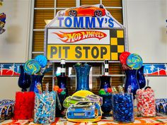 My little brother used to love  this. A hotwheels thema party how cool??!