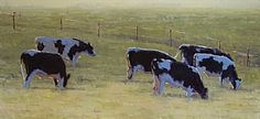 Spring Pasture by Kathleen Dunphy Oil ~ 15 x 30
