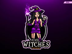EVIL WITCHES designed by Topocho DG. Connect with them on Dribbble; the global community for designers and creative professionals. Logo Free, Halloween Logo, Witch Wallpaper, Instagram Cartoon, Pirate Fashion, Evil Witch, Game Logo Design, Aesthetic Eyes, Disney Traditions