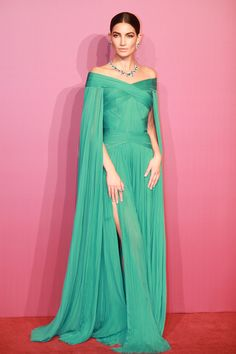 Lily Aldridge In J. Mendel – Bvlgari Festa High Jewelry Event