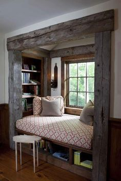Jane Eyre window seat library nook