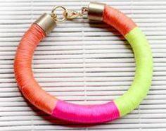 DIY Neon Wrap Bracelet!