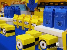 Mesa Minions Minions Birthday Theme, Minion Theme, Minion Party, 3rd Birthday Parties, Minion Banana, Trunk Or Treat, Ideas Para Fiestas, Birthday Design, Mario Bros