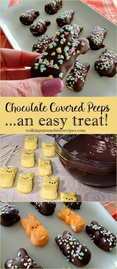 Chocolate Covered Peeps are tasty Easter treats that are so much fun to make and decorate with your kids.