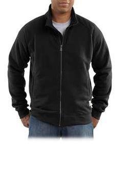Carhartt Mens K350 Midweight Mock Neck Zip Front Sweatshirt - Black   Buy Now at camouflage.ca
