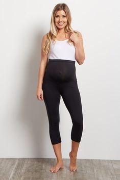 b4bdfb8040e Black Cropped Maternity Workout Pants  pregnancypants