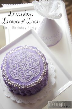Lavender, Lemon and Lace First Birthday Party