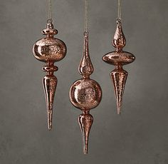 Artisan Handblown Antiqued Glass Ornament | RH