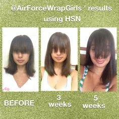 My personal results using HSN. If you want longer, stronger, healthier hair, contact me today to get yours.   Monica Wilks IT WORKS DISTRIBUTOR  650-922-9689 www.AirForceWrapGirl.com