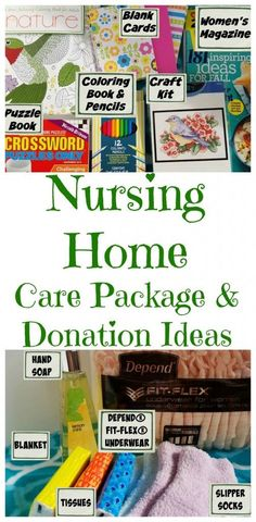 Ideas For What To Put In A Nursing Home Care Package Or To Donate To A Local Nursing Home