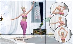 Sims 4 CC's - The Best: Belly Dance Poses by Rethdis-Love