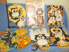 Vintage Halloween Hooten Owl Paper Decorations