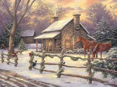 """""""Marianne's Winter Hideaway"""" by Chuck Pinson.                                                                                                                                                                                 More"""