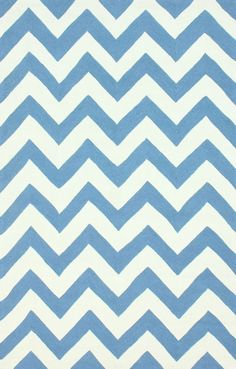 $5 Off when you share! Quinta Indoor Outdoor Chevron Blue Rug | Contemporary Rugs #RugsUSA