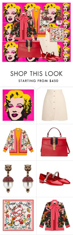 """""""Garden."""" by voguerfeld ❤ liked on Polyvore featuring Oris and Gucci"""