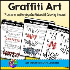 Let your students learn the basics of drawing in the style of Graffiti through this thorough product. This is a great way to teach technique of a specific style and engage all the students in your class and hook them onto art! This is great for grabbing the attention of both girls and boys, as well as right and left brains!