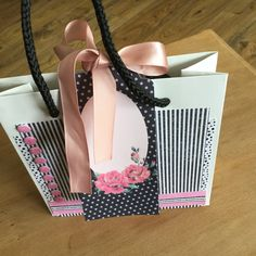 Up-cycled gift bag made by Marie Chillmaid using Craftwork Cards Heritage Rose collection. Heritage Rose, Craftwork Cards, Bag Making, Tote Bag, Envelopes, Card Ideas, Boxes, Gifts, Tags
