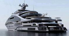 "Gigayacht Konzept ""Prelude"" (Laraki Yacht Design) My Goodness how Horrible! - Gigayacht Konzept ""Prelude"" (Laraki Yacht Design) My Goodness how Horrible!looks like concrete - Yacht Luxury, Luxury Cars, Luxury Travel, Private Yacht, Private Jet, Yacht Design, Design Design, Interior Design, Bateau Yacht"