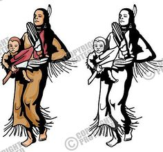 Indians Clipart Western Vector