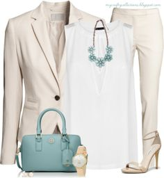 Women's #Outfit: Spring Business - Featuring items from Boscov's, H&M, Amazon, Piperlime, Tory Burch, Steve Madden, and MANGO.
