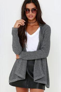 Rhythm Twilight Grey Cardigan Sweater
