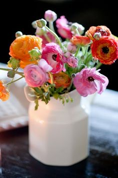 Happy colorful flower arrangement