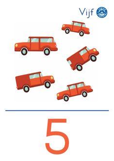 Cijferkaart 5 - Met deze cijferkaart leer je het cijfer 5. De afbeelding op de kaart ondersteunt het getalbeeld wat bij het cijfer 5 hoort. Hierdoor ontwikkel je jouw getalbegrip. Door de heldere opmaak en kleurrijke illustratie, leer je gemakkelijk wat het cijfer 5 betekent.