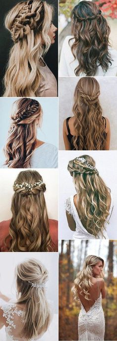 Wedding hairstyles up half down with braid / wedding hairstyle .- Hochzeitsfrisuren hoch halb runter mit Zopf / Hochzeitsfrisuren mit Ha … – Wed… – Hair Styles Wedding hairstyles up half down with braid / Wedding hairstyles with Ha Wed - Wedding Hairstyles Half Up Half Down, Wedding Hairstyles For Long Hair, Trendy Hairstyles, Indian Hairstyles, Bride Hairstyles Down, Hairstyles For Bridesmaids, Hair Styles For Wedding, Bridal Half Up Half Down, Hairstyle Wedding
