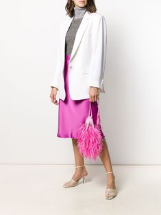 Duster Coat, Embroidered Bag, Pink Silk, Feather, Women Wear, Jackets, Pouch, Shopping, Fashion Design