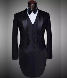 traje completo smoking calça colete faixa cintura e gravata