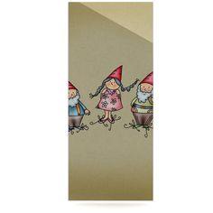 "Carina Povarchik ""Gnomes"" Brown Multicolor Luxe Rectangle Panel"