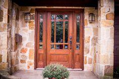 Rogue Valley Entry Door 4697 Shown In Fir Sidelight