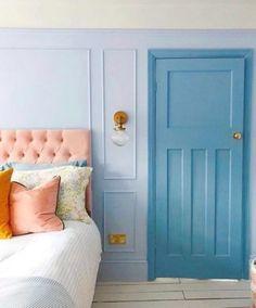 Interior Exterior, Interior Design, Bedroom Colour Palette, House Colors, Blue Bedroom, Master Bedroom, Decoration, Interior Inspiration, Home Goods