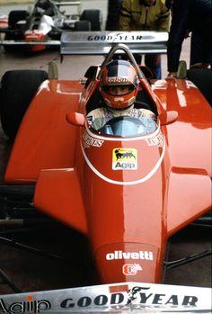 Gilles Villeneuve F1 Ferrari Essais de la Ferrari turbo avant le début de la saison 1982. (Photo: Ferrari)