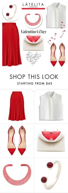 """""""Happy Valentine's day with Latelita"""" by helenevlacho ❤ liked on Polyvore featuring Topshop, Chicwish, Gianvito Rossi, Fendi, women's clothing, women's fashion, women, female, woman and misses"""
