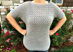 Easy Peasy Lemon Squeezy Holey Pullover Crochet Pattern