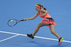 Elina Svitolina Photos Photos - Elina Svitolina of Ukraine returns a shot against Angelique Kerber of Germany during the Women's singles third round match on day six of the 2016 China Open at the China National Tennis Centre on October 6, 2016 in Beijing, China. - 2016 China Open - Day Six