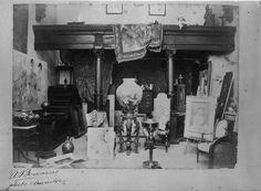 A. Benarus, Fotografia do atelier de Columbano Bordalo Pinheiro (c. 1887)