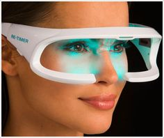 Re-Timer Light Therapy Glasses - new LED glasses reduce jet lag and winter blues after just 30 minutes use a day