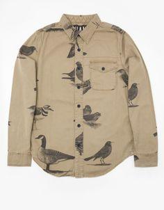 Bird Shirt In Tan