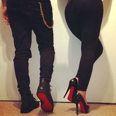 Theme for our day!  Christian Louboutin Shoes, CL Boots, Red Bottom Shoes, Red High Heels