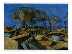 Giclee Print: Paul Nash Wall Art by Paul Nash : Time Painting, Painting & Drawing, Elizabeth Forbes, Ww1 Art, Picture Company, Most Popular Artists, Irish Art, Watercolor Techniques, Abstract Landscape