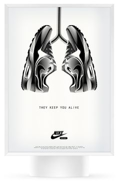 Nike ads are the best in sports design. Innovative, clean and simple.
