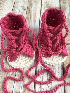 Crochet baby sandals Gladiator baby girl by BabyStepTreasures