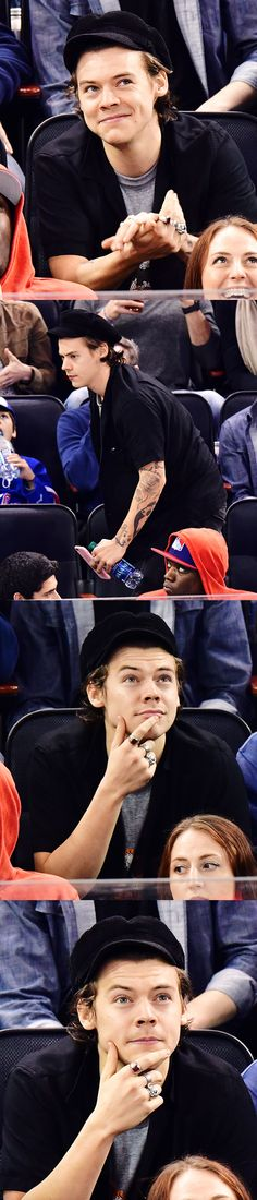Harry Styles | at a New York Rangers game 4.16.17 | emrosefeld |