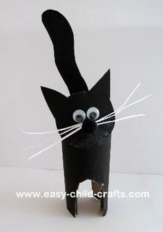 Paper roll craft ideas for kids and adults. Easy toilet paper roll crafts for preschoolers,toddlers. crafts to make using paper rolls: Christmas, Easter. How to make animals, butterflies, pilgrims Kids Crafts, Halloween Crafts For Kids, Cat Crafts, Animal Crafts, Toddler Crafts, Preschool Crafts, Halloween Diy, Preschool Halloween, Halloween Halloween